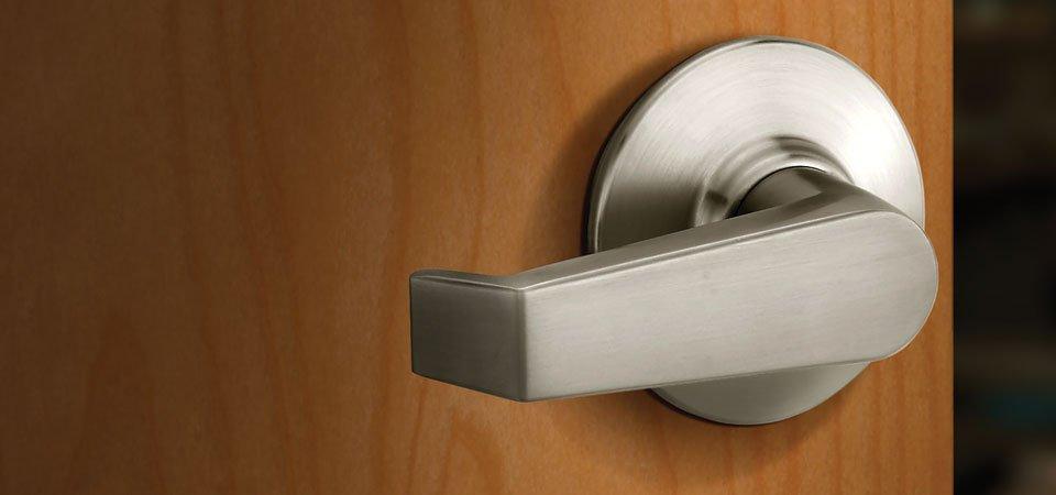 Schlage A170-PLY Plymouth Knob Non-turning Lock Satin Chrome