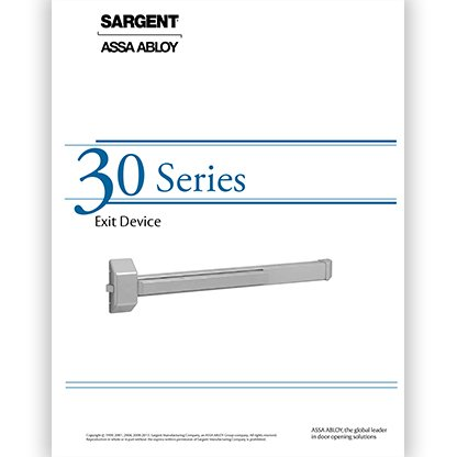 Sargent 30 Series Rugged Exit Devices