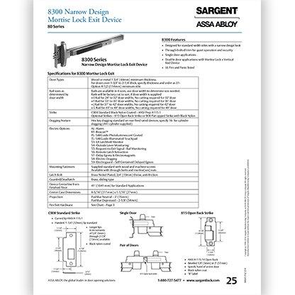 Sargent 8300 Series