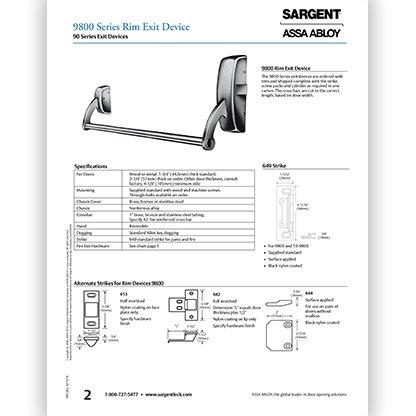 Sargent 9800 Rim