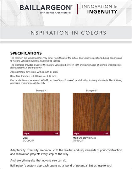 Baillargeon Stain Finishes
