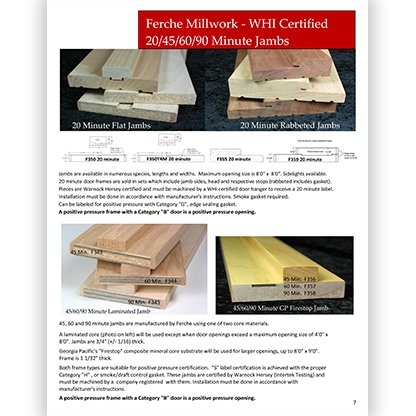 Ferche Fire Rated Jambs Brochure