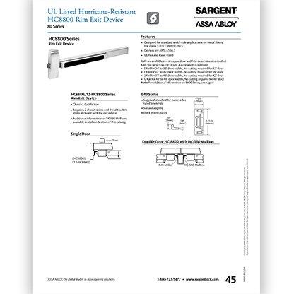 Sargent HC8800 Series