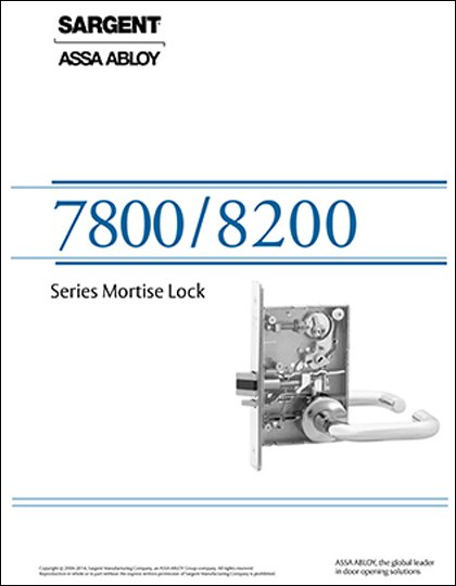 Sargent 7800 & 8200 Series Mortise Locks