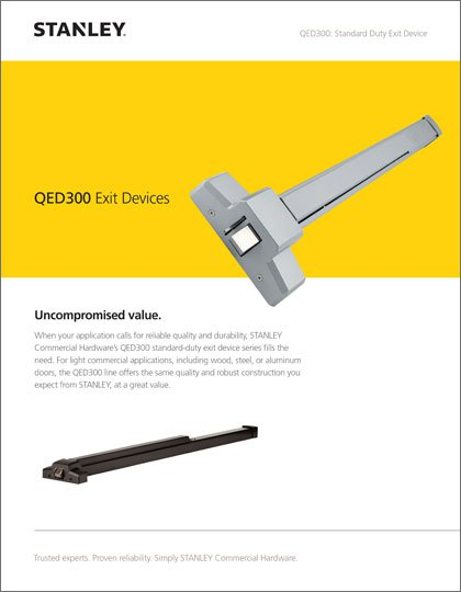Stanley QED300 Exit Devices