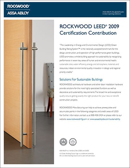 Rockwood LEED Certification