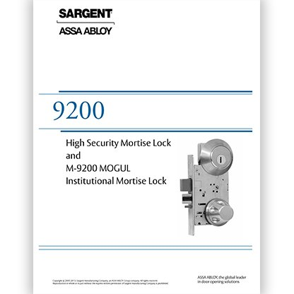 High Security Mortise Lock and M-9200 MOGUL Institutional Mortise Lock