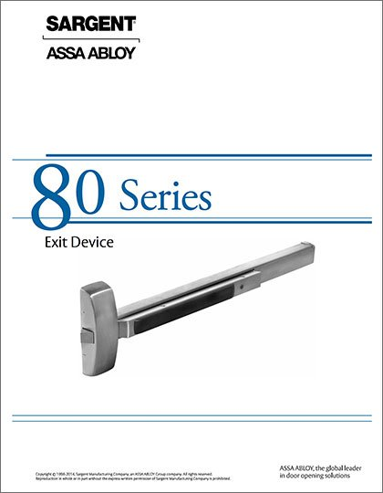 Sargent 80 Series Exit Devices