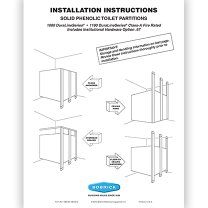 Penner Doors Solid Phenolic - Bathroom partition installation instructions