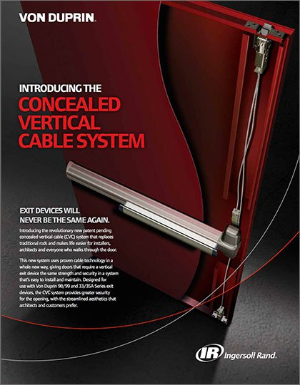 Von Duprin Concealed Vertical Cable System