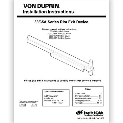 Series 33A/35A Device Installation