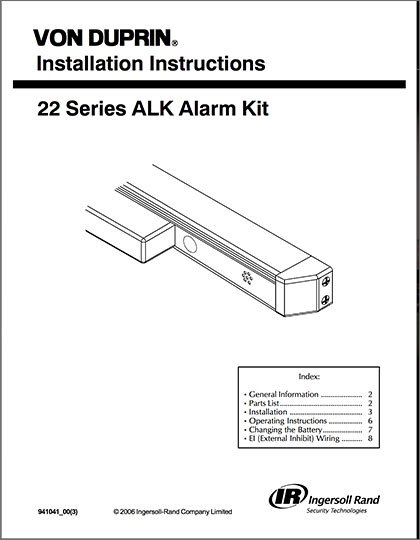 Series 22 ALK Installation