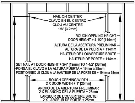 Rough Opening For Single Pocket Door