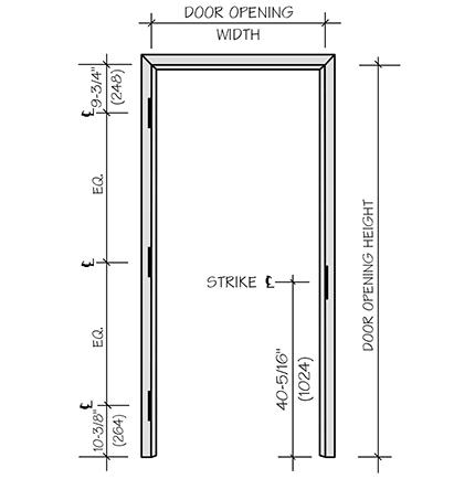 Standard Door Frame Size Chrome Door Sill Protectors