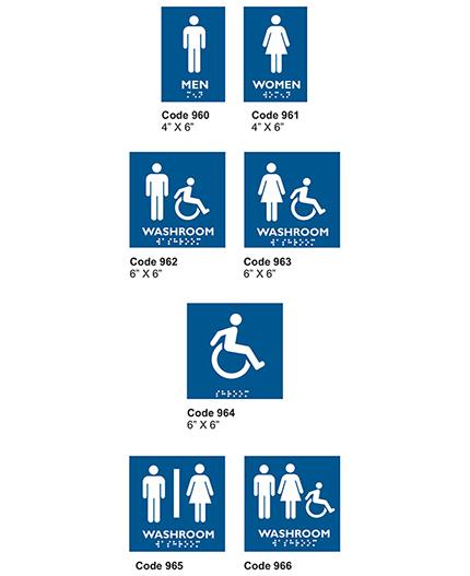 Penner Doors Washroom Signage